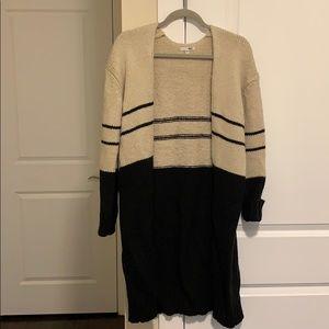 Super cute knee length duster sweater